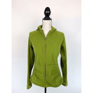 NORTH FACE Green TKA 100 Fleece Jacket Thumb Hole